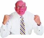 angry boomer man